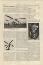 1925 The Autogyro Flying Machine Don Juan De La Cierva