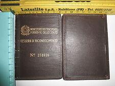 Tessera di riconoscimento Ministero Trasporti Ferrovie dello Stato n 251026 - 14