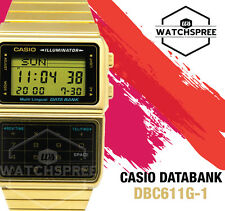 Casio Databank 46.5mm Stainless Steel Case Stainless Steel Plated Strap - (DBC-611G-1D)