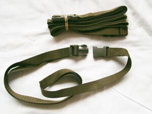 NYLON UTILITY STRAP WEB BELT CLIP BUCKLE GREEN 170 cm DUTCH ARMY MILITARY