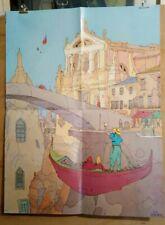 Affiche Moebius Jean Giraud Venise 49x64,4 cm  pliée en 4