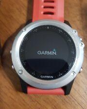Garmin fenix 3 silver bezel 100m GPS and Bluetooth with Garmin leather band.