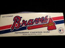 ATLANTA BRAVES BASEBALL PEPPERMINT GUM BOX (circa 1996)