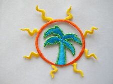 #4222 Sun,Sun Shine,Coconut Tree Embroidery Iron On Applique Patch