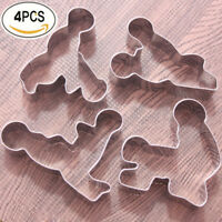 4pcs Stainless Steel Sex Love Cookie Fondant Cake Mold Biscuits Cutter Mould DIY