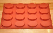Cake Mold, Soap Mold 16-Ellipse Oval Mold Silicone Mould For Candy Chocolate