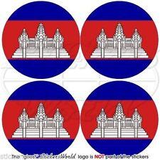 "CAMBODIA Kampuchea Srok Khmer, Cambodian Vinyl Bumper, Decal-Sticker 2""(50mm) x4"