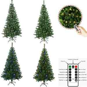 Christmas Tree Artificial 4/5/6/7ft Deluxe With USB LED Remote Lights and Stand