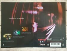 Original Resident Evil 1 Playstation PS1 Sega Saturn 1996 Promo Ad Print Poster