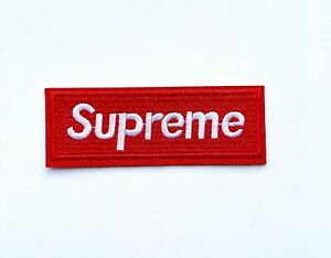 🇨🇦 Supreme Logo Small Embroidered Patch Iron-On Hip Hop Emblem DS252 - Small