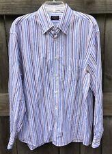 PAUL & SHARK YACHTING Button Front Shirt Men's XL 100% Cotton