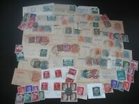 German Reich Nazi Stamps Coins Deutches Area Interesting Cancels Unchecked Lot