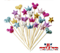 5 Pcs 3D Cake Topper Birthday Party Happy Decoration Acrylic Supplies Gold UK
