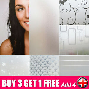Frosted Window Film Protector Sticker Etched Privacy Glass Vinyl 200cm X 60cm *W