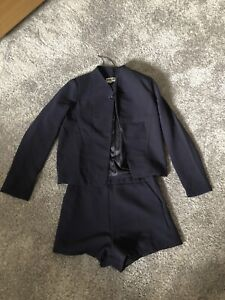 Navy Blue Womens Two Piece, Shorts & Blazer Set, Size 8, Brand New