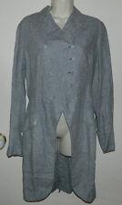 New Women Linen Ralph Lauren Multi-Color Long Sleeve Light Trench Coat Sz 4 $498