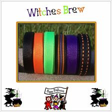 """30 yds 3/8"""" Loopy Bows Spooky Witches Brew Halloween Grosgrain Ribbon 4 Hairbow"""