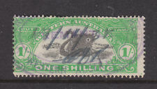 W.A.: 1/ Green And Black Stamp Duty Perf 14 3/4? 1904 Wmk W Cr A Used