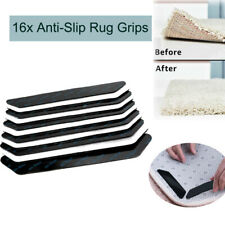 16x Rug Gripper Pad Anti Curling Non Slip Carpet Anchors Sticky Holders Washable