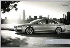 Audi A8 & A8L 2011-12 UK Market Sales Brochure SE Executive W12