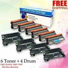 4x DR720 Drum 6x TN750 Toner Set For Brother MFC:8510DN 8515DN 8520DN 8710DW