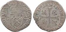 Charles X, douzain aux 2 C en billon 1593, Riom - 11