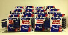12PK GILLETTE GOOD NEWS W/5 DISPOSABLE 2-BLADES RAZORS EA, 20 TOTAL - RASTRILLOS