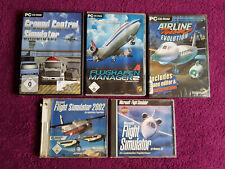 5x PC Spiele. Großes Simulator Paket Sammlung Konvolut. Flugzeug. Flughafen.