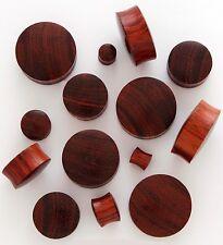 "1 Pair (2) 28mm Red Tigerwood Organic Solid Wood Saddle Plugs Ear Gauges 815 1""+"