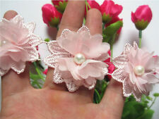10pcs Pearl Flower Lace Edge Trim Vintage Wedding Bridal Ribbon Sewing Craft DIY