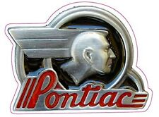 """The Original Old Pontiac Decal is 4"""" x 5"""" in size"""