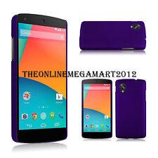Premium Purple Hybrid Rubberised Hard Back Case,Cover, for Google Nexus 5 E980