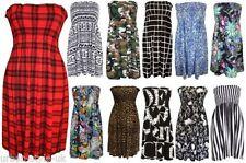 Viscose Bandeau Party Regular Size Dresses for Women