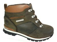 New TIMBERLAND Boots Boys Split Rock 2 Leather Brown Lace Kids Sale Size 7-6.5