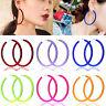 Women's Exaggeration Acrylic Big Hoop Dangle Earrings Resin Round Circle Jewelry