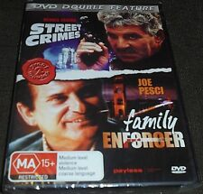 DOUBLE FEATURE DVD STREET CRIMES / FAMILY ENFORCER (PAL REGION) BRAND NEW SEALED
