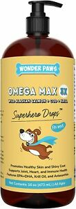 Wonder Paws Fish Oil For Dogs - Omega 3 For Dogs From Alaskan Salmon, Cod & Kril