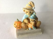 "Cherished Teddies Fall/Halloween JANINA Figurine ""Light up your Halloween w Fun"""