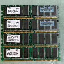 DDR SDRAM PC2700U PC Computer Memory HP Samsung 256MB 333MHz Lot 4 305957-041 1G