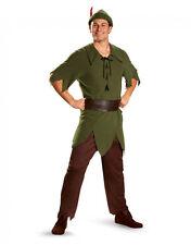 """Disfraz de hombre de Peter Pan, XL, pecho 42-46"""", 38-42"""", 32"""" en costura de la cintura, altura 5' 9-5' 11"""""""