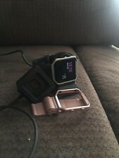 Fitbit Blaze Bundle with Rose Gold Band, Original Charger, and Charging Dock