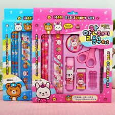The New Stationery Set School Boys Girls Pencil Eraser scissor Ruler Kids Gift