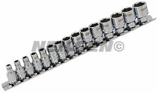 "15 Piece Xi - on Super Grab 1/4 "" drive  Socket Set on Holding Rail"