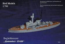 "Begleitkreuzer ""Hannover 1940""     1/700 Bird Models Resinbausatz / Resin Kit"