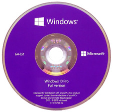 Microsoft Windows 10 Pro Professional 64 Bit DVD - GENUINE Reinstallation Disc