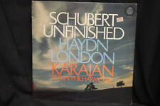 Karajan Berlin Philharmonic Schubert Unfinished Haydn London - Angel Records NEW