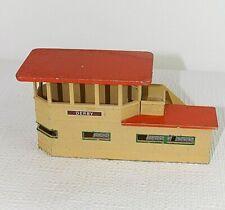 Signal cabin Model railway scenery  Hornby Dublo 00 Meccano Metal 1950s vtg 53