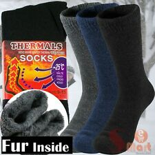 3 Pairs Mens Heavy Duty Thermal Boot Socks Winter Warm Heated Work Crew Sox 9-13