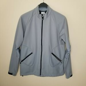 ADIDAS ClimaProof Wind-Warm FULL Zip Up Athletic Jacket Black/Gray Men's M