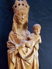 Heilige MARIA Mutter Gottes Madonna Holzfigur sakral Heiligenfigur 63cm hoch